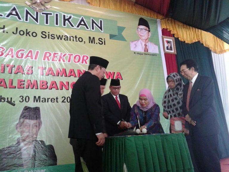 Pelantikan Rektor Universitas Tamansiswa Palembang